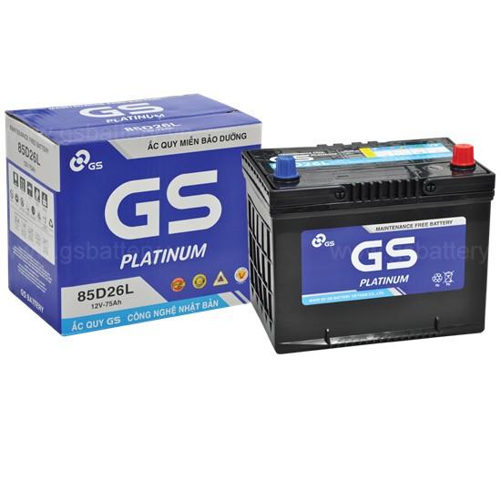 Ắc quy khô 85D26R/L (75ah) GS