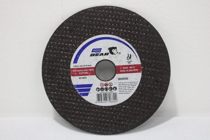 Đá cắt inox, kim loại Bear 105 x 1.0 x 16 mm A60S-BF41 NORTON