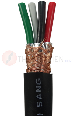 Dây cáp 4 lõi  có lưới chống nhiễu TGCN-23690 Sangjin