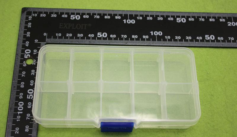 Hộp đựng linh kiện điện tử 10 ngăn 13 x 6.5 x 2.3 cm TGCN-24242 VietNamPlastics
