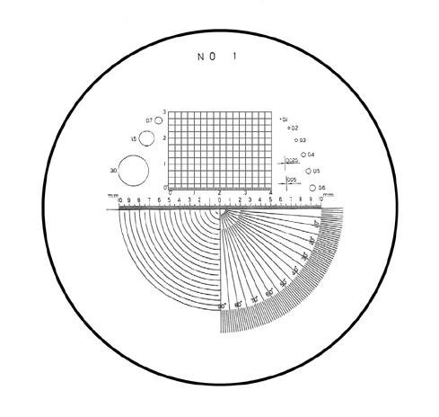 Mặt kính No.1 cho kính lúp 10X PS No.1 PEAK