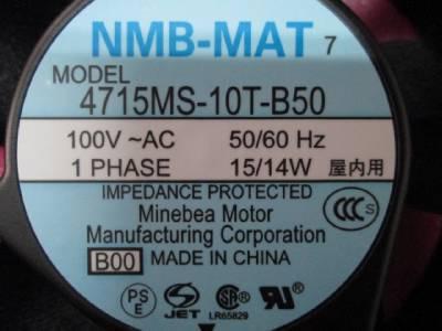 Quạt hút  4715MS-10T-B50 NMB