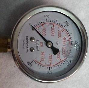 Đồng hồ đo áp suất dầu 150kg/cm2 phi 17 TGCN-25617 BADOTHERM
