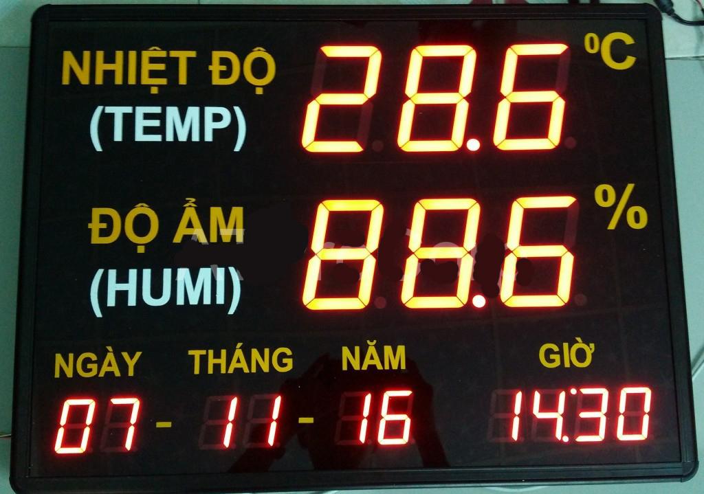 Đồng hồ nhiệt ẩm ngày tháng năm giờ ATPRO-LIXIL ATPRO