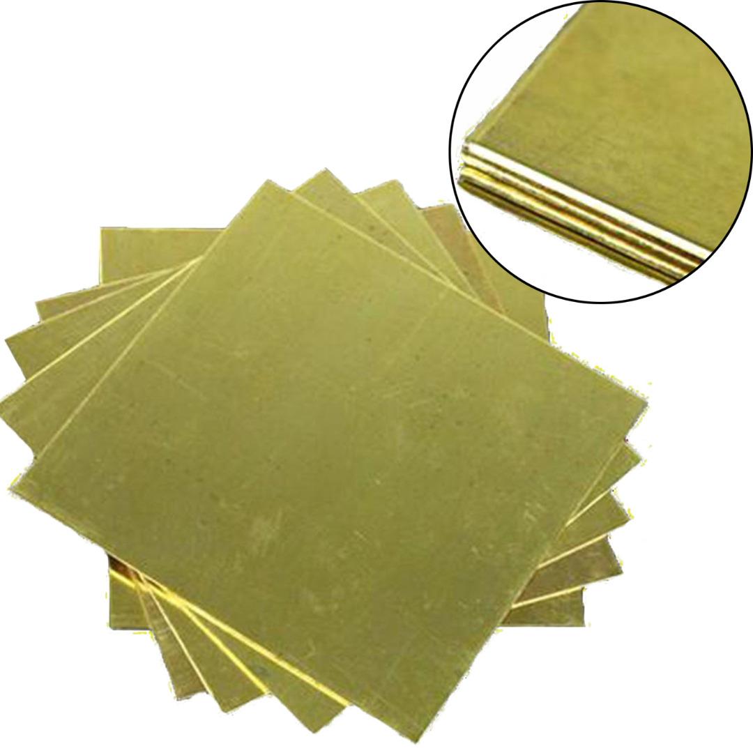 Đồng thau tấm 100mm x 100mm x 3mm TGCN-26832 VietnamMaterials