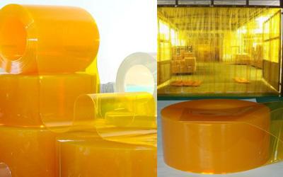 Màn nhựa PVC vàng trơn 200mm x 3 mm x 50m TGCN-27263 VietNamPlastics