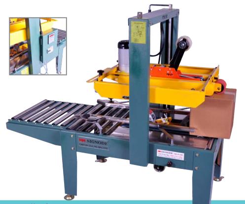 Máy dán băng keo thùng carton bán tự động FTM SIGNODE
