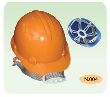 Nón bảo hộ nhựa N.004 màu cam khóa cài N.004 BaoBinhSafety