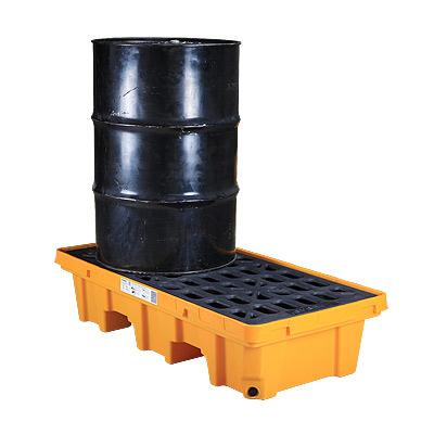 Pallet nhựa chứa phuy chống tràn dầu Poly, 2 drum, dung tích 32 Gallon/ 120 lít SPP102 SYSBEL