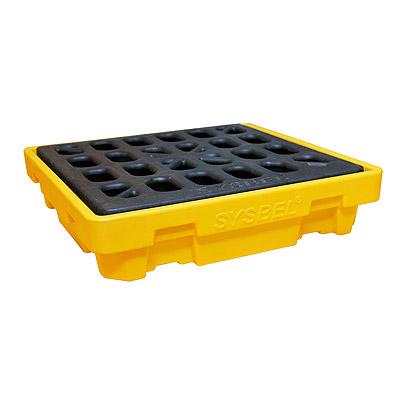 Pallet nhựa chứa phuy chống tràn dầu Poly, 4 drum, dung tích 68 Gallon/ 260 lít SPP104 SYSBEL