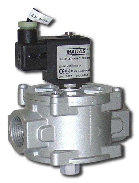 Van điện từ DN25 nối ren, thường đóng M16/RMO N.C EEX MADAS
