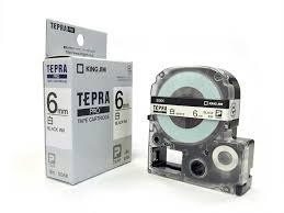 Băng in nhãn dài 6mm ( chữ đen nềntrắng ) SS6K TepraPro