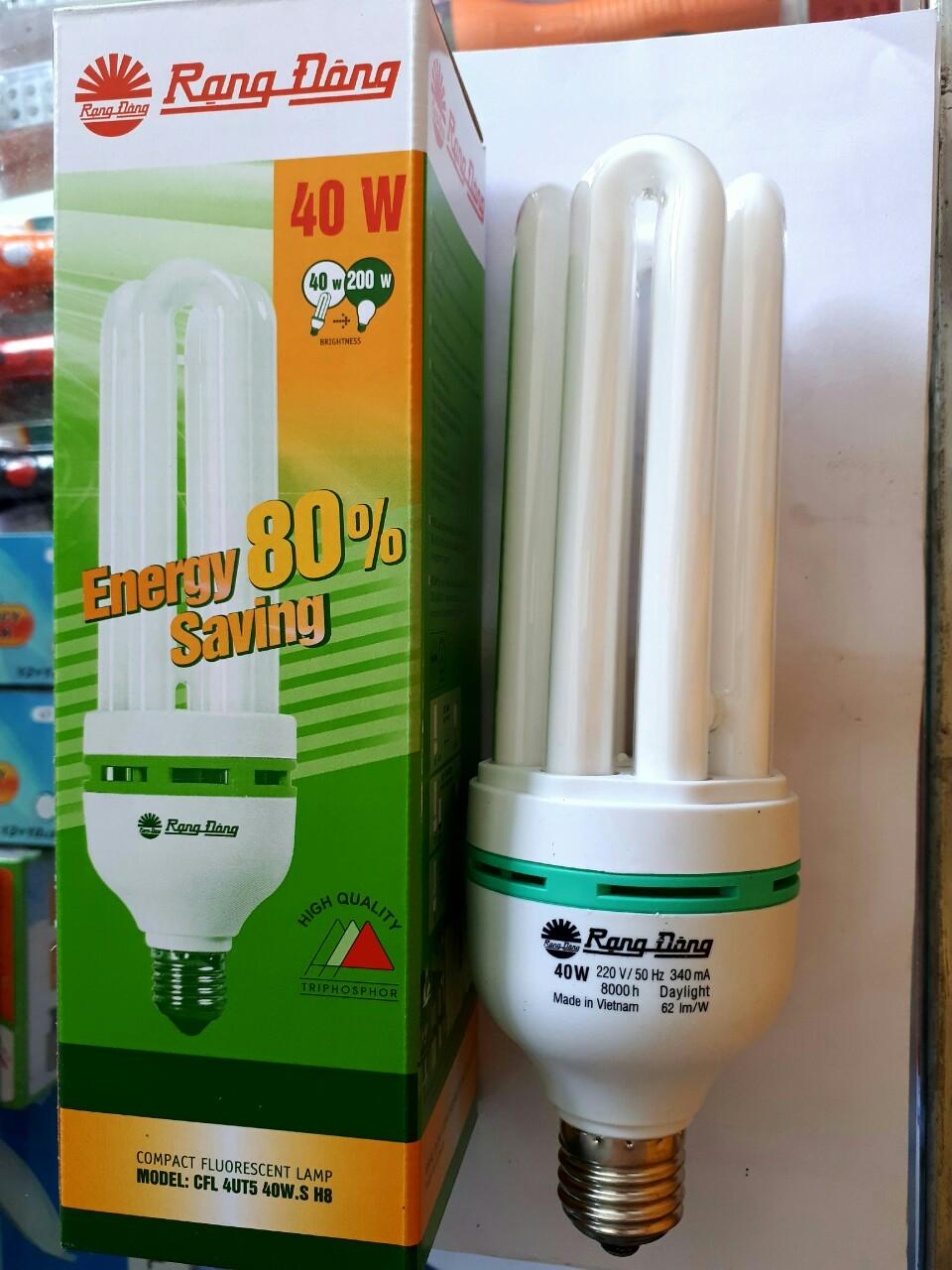 Bóng đèn huỳnh quang compact CFL 4UT5 40W H8 RANGDONG