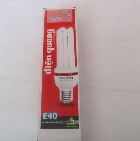 Bóng đèn huỳnh quang compact 55W ĐQ-CFL-4U-F14-55W-DL-E40 DienQuang