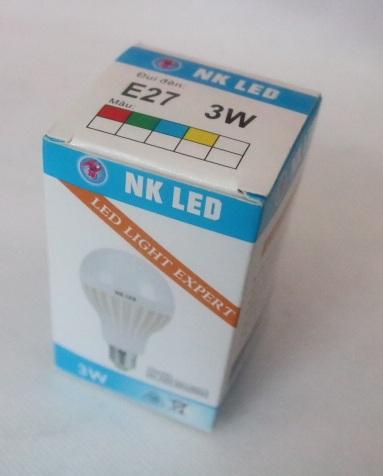 Bóng đèn led nhựa NK E27- 3W HONG-UNG
