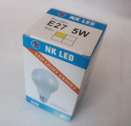 Bóng đèn led nhựa NK E27 - 5W HONG-UNG