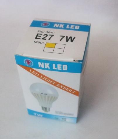 Bóng đèn led nhựa NK E27 -7W HONG-UNG