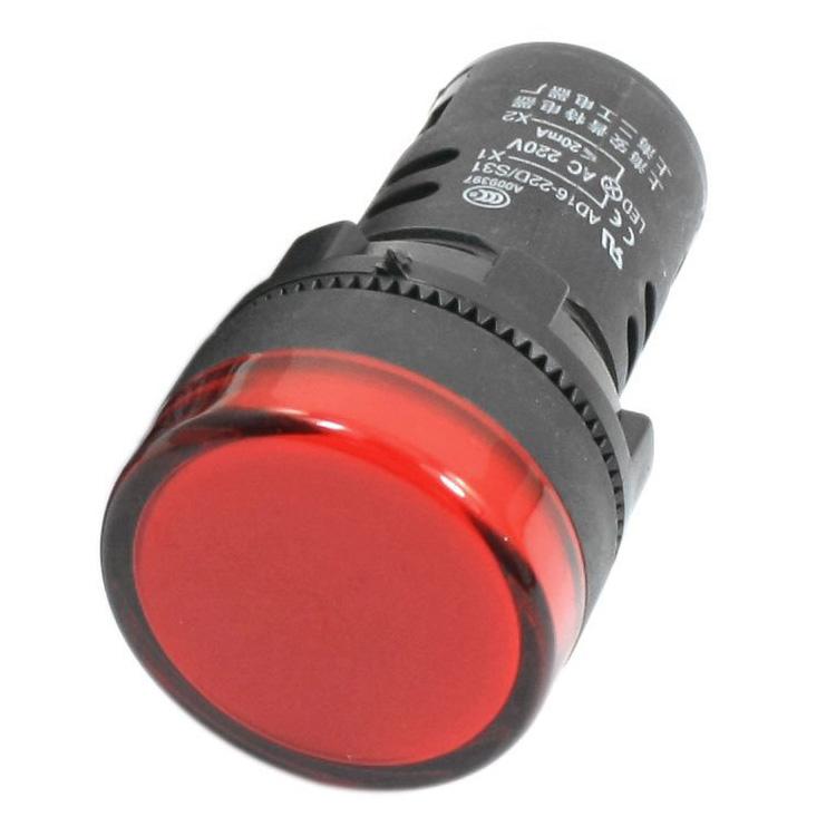 Đèn báo phi 22 24VDC  AD16-22DS (màu đỏ) APT