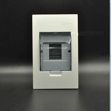 Tủ điện âm tường mặt nhựa chứa 2 - 4 MCB A4FC2/4LA SINO