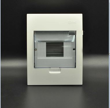 Tủ điện âm tường mặt nhựa chứa 3 - 6 MCB E4FC3/6LA SINO
