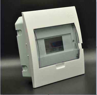 Tủ điện âm tường mặt nhựa chứa 4 -8 MCB  E4FC4/8LA SINO