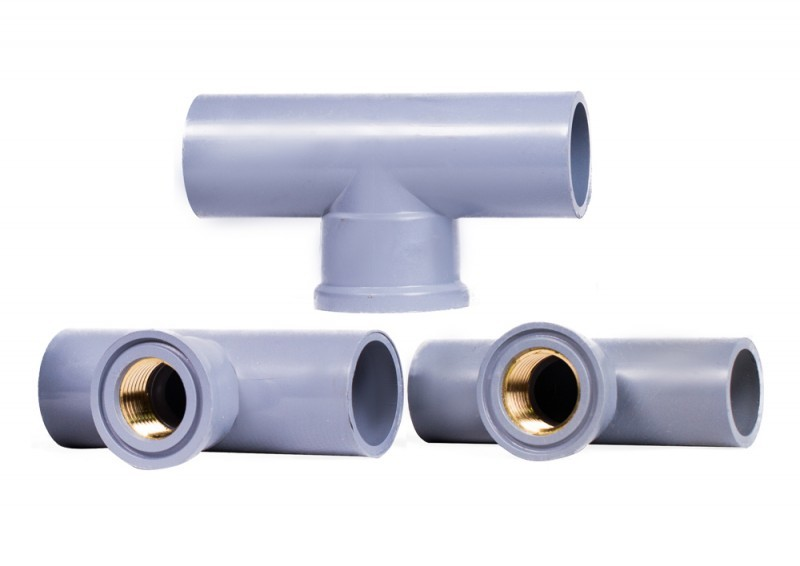 Tê ren thau trong 21/27 PVC bmrl40 DatHoaPlastic