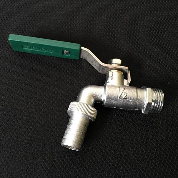 Vòi vườn mạ crom tay gạt inox  21mm ( 1/2inch) TURA 1/2 Tura