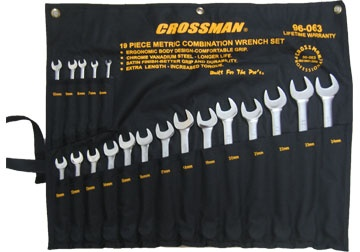Bộ cờ lê vòng miệng 19 chi tiết 6-24mm  96-063 CROSSMAN