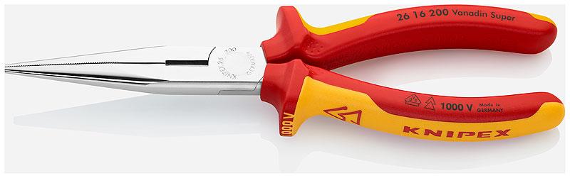 Kìm mũi nhọn 200 mm 26 16 200 KNIPEX