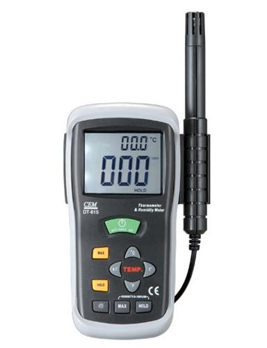 Máy đo nhiệt độ và độ ẩm DT-615 cem