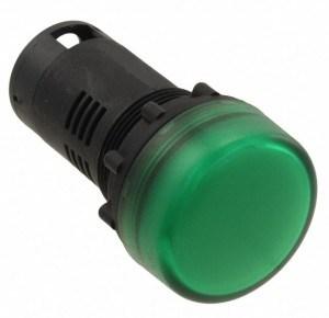 Đèn báo màu xanh lá, led 24V M22R-EG-T2 Omron