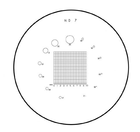 Mặt kính No.7 cho kính lúp 10X PS No.7 PEAK
