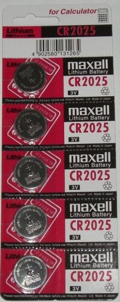 Pin cúc áo 3v CR2025 Maxell