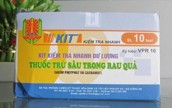 Kit kiểm tra nhanh dư lượng thuốc trừ sâu VPR10 VietnamMaterials