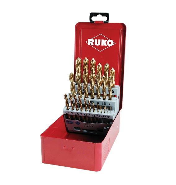 Bộ mũi khoan 25 chi tiết 1-13mm 250215T RUKO