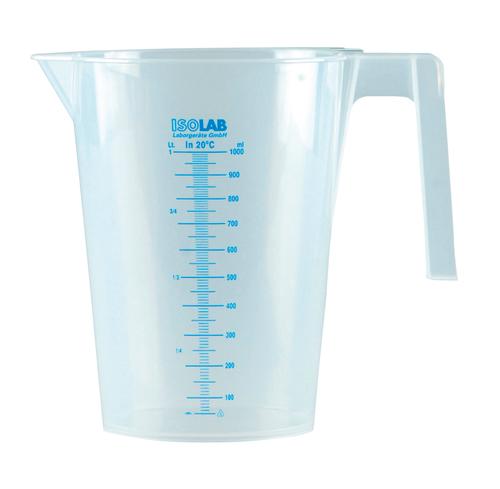 Ca nhựa có tay cầm 5000ml vạch xanh 026.04.905 ISOLAB