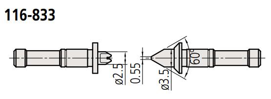 Đầu thay thế cho panme đo ren 116-833 MITUTOYO