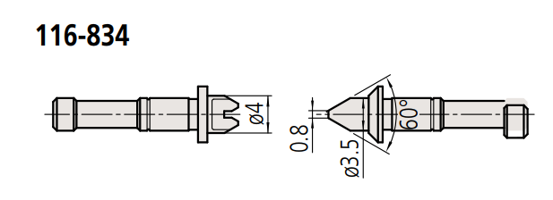 Đầu thay thế cho panme đo ren  116-834 MITUTOYO