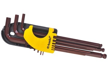 Bộ lục giác đầu bi 9 cây 1.5 - 10mm AK-7408 ASAKI