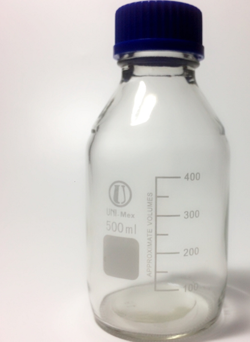 Chai thủy tinh trung tính chịu nhiệt nắp xanh 500ml TGCN-34124 UNI-MEX