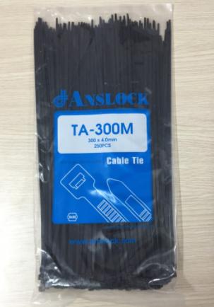Dây rút nhựa màu đen TA-300M ( Màu đen ) ANSLOCK