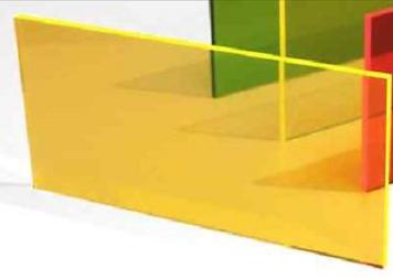 Tấm mica màu vàng 1220 x 2440mm dày 5mm TGCN-34804 TAIWAN