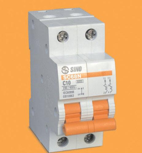 Cầu dao tự động mcb 2p-20a-6ka SC68N/C2020 SINO
