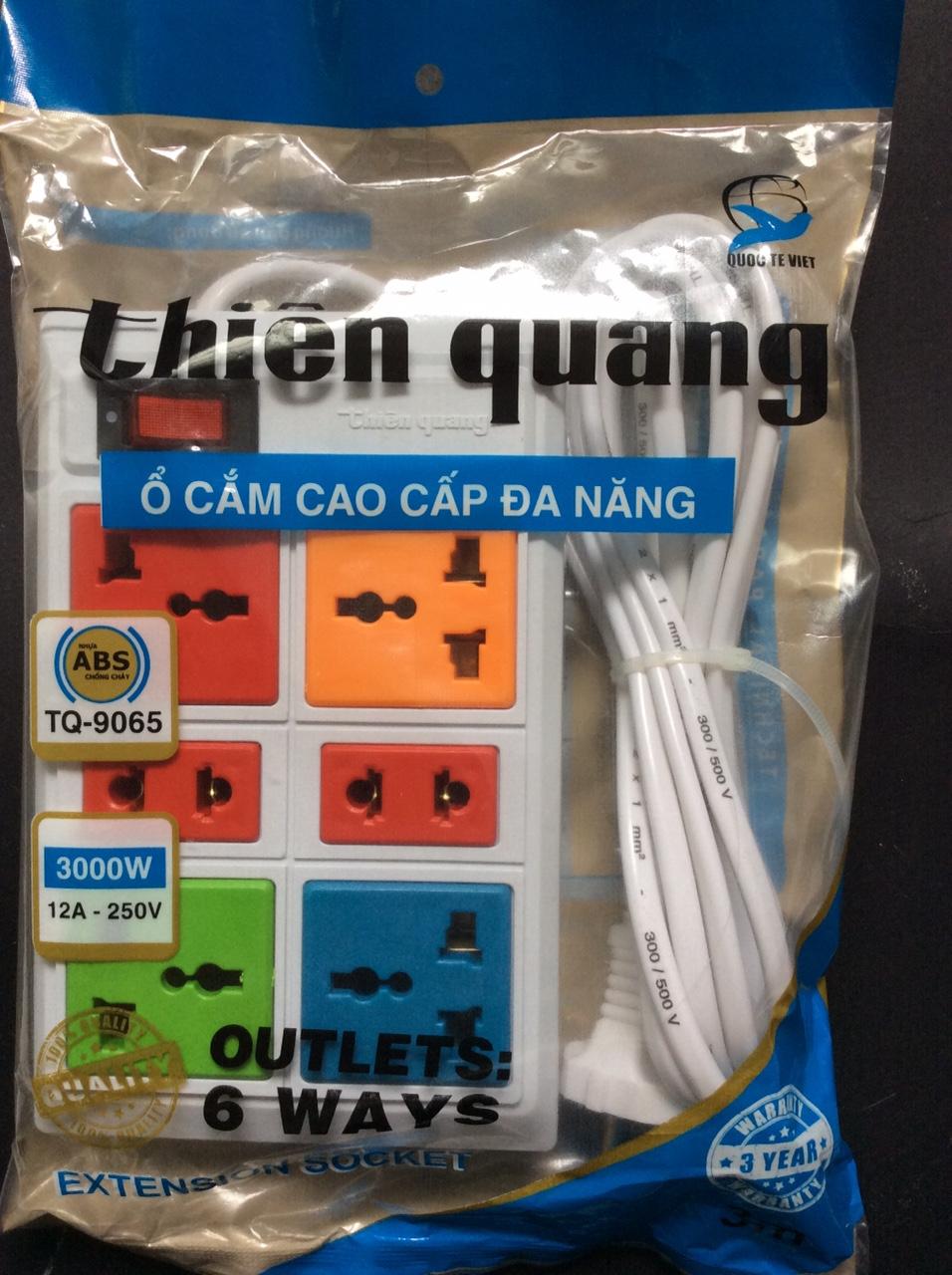 Ổ cắm 6 lỗ 3m cao cấp TQ9065 ThienQuang