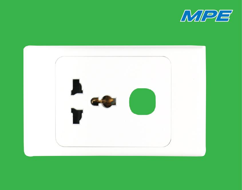 Ổ cắm đơn đa năng 16A + 1 lỗ A20USMXN MPE