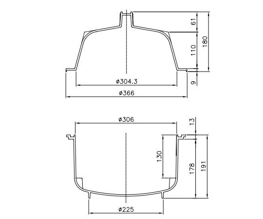 Tủ hút ẩm PC đường kính 306mm 1-066-14 ASONE