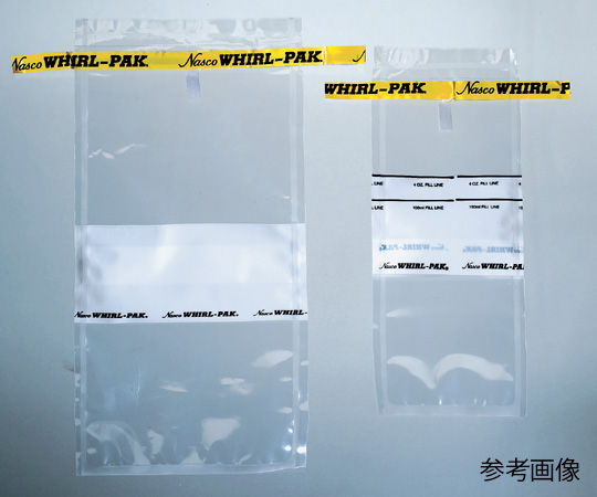 Túi nhựa xoáy 118 mL 75 × 185 mm bề mặt viết B01062WA 1-1749-01 ASONE