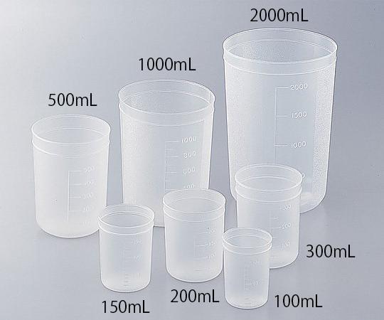 Cốc nhựa 1000 ml có thang chia 1-4659-06 ASONE