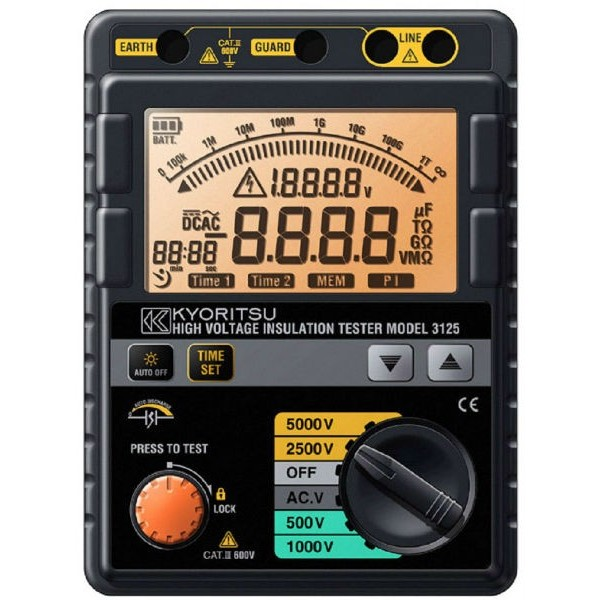 Đồng hồ đo điện trở cách điện 3125A KYORITSU