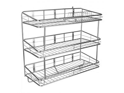 Giá để chén bát treo tường 3 tầng TGCN-37266 InoxViet